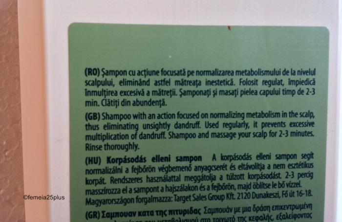 recenzie sampon antimatreata Gerovital farmec