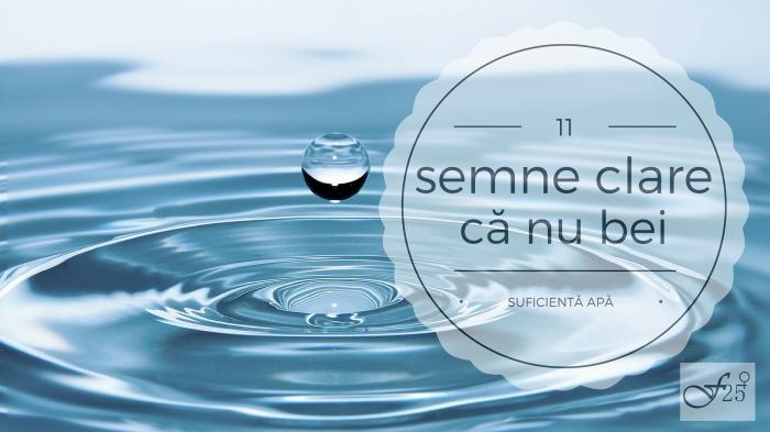 11 semne clare ca nu bei suficienta apa