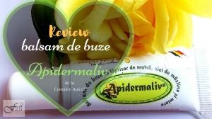 review balsam de buze apidermaliv