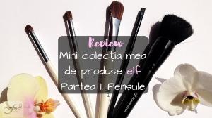 Review mini colecție produse elf Pensule