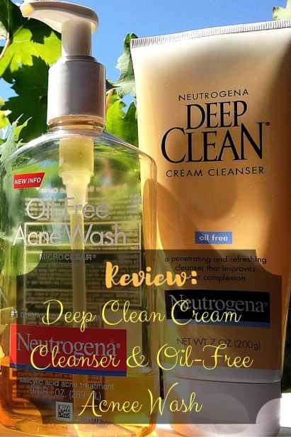 Review Deep Clean Cream Cleanser & Oil Free Acne Wash Neutrogena