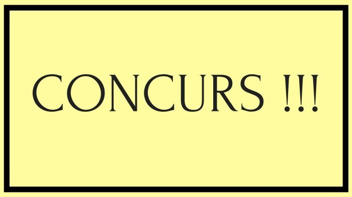 CONCURS !!!
