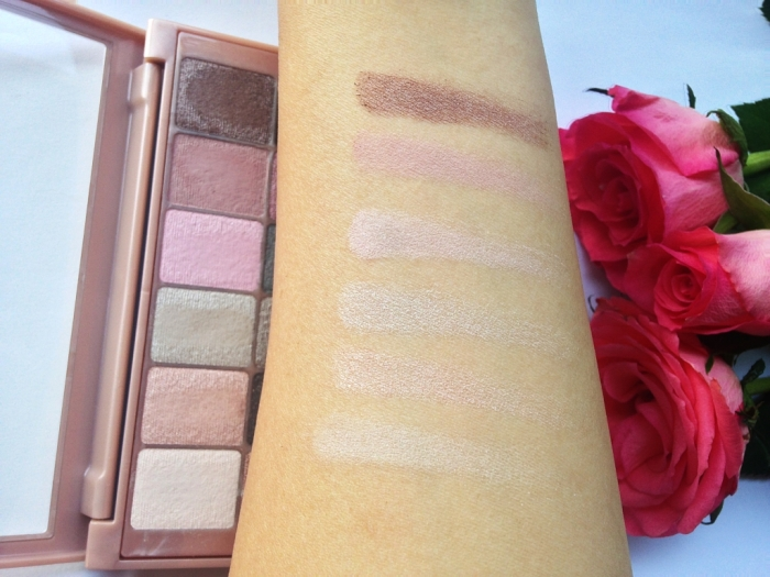 The blushed nudes Maybelline New York
