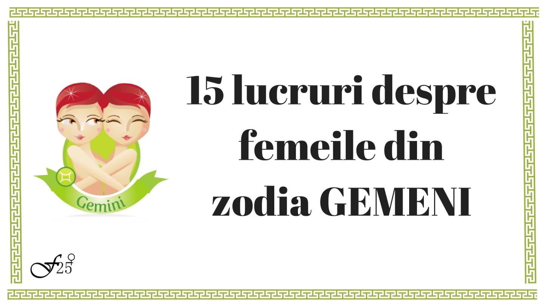 15 lucruri despre femeile din zodia Gemeni