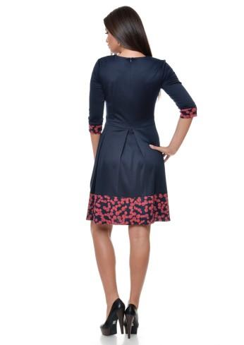 rochie-din-jerse-cu-pliuri-mari-si-maneca-trei-sferturi-r136i957-spate-992x1404
