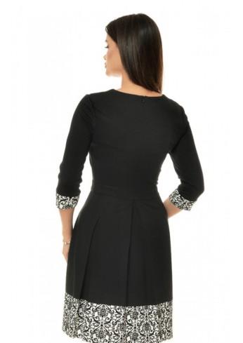 rochie-office-alb-negru-cu-imprimeu-tip-catifea-r136i146-spate-992x1404