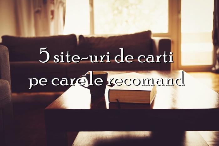 5 site-uri de carti pe care le recomand